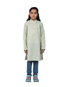 Kids Kurta Girl Honey Dew