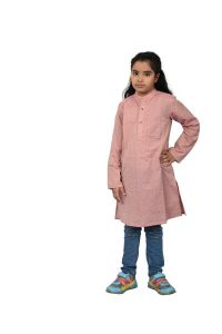 KIDS KURTA Girl Rosy Brown