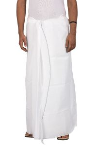 Dhoti White & Colour Border