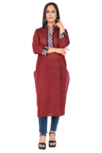 Ladies long Kurti Guardsman Red