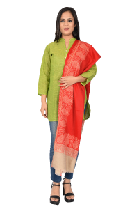Ladies Shawls Red Plain
