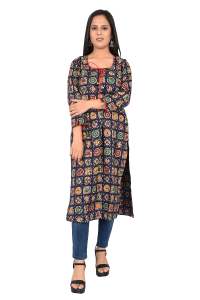 Ladies long Kurti Liver mix