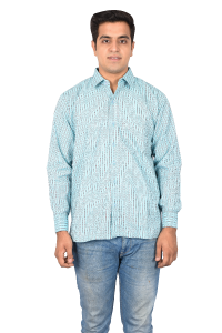 Gents Shirt Blue Doted