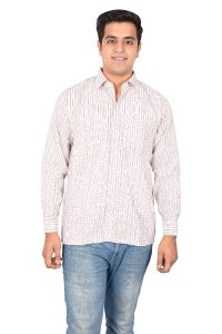 Gents Shirt Cream Doted