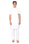 Long Half Gents Kurta White