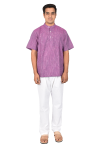 Short Gents Kurta Purple